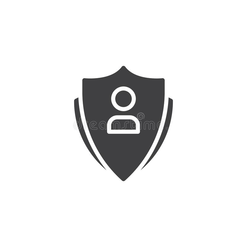 Benutzerkonto-Schutzvektorikone stock abbildung