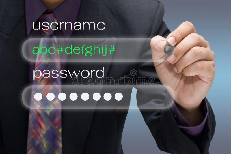 Benutzername und Passwort lizenzfreies stockfoto