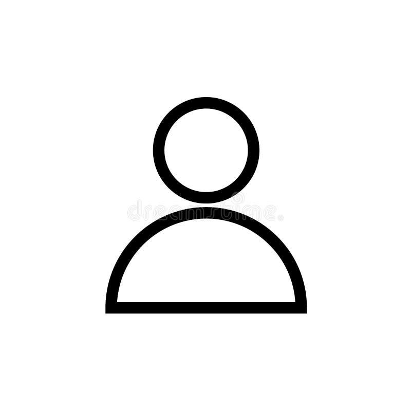 Benutzerprofil-Avataraschwarzlinie Ikone lizenzfreie abbildung