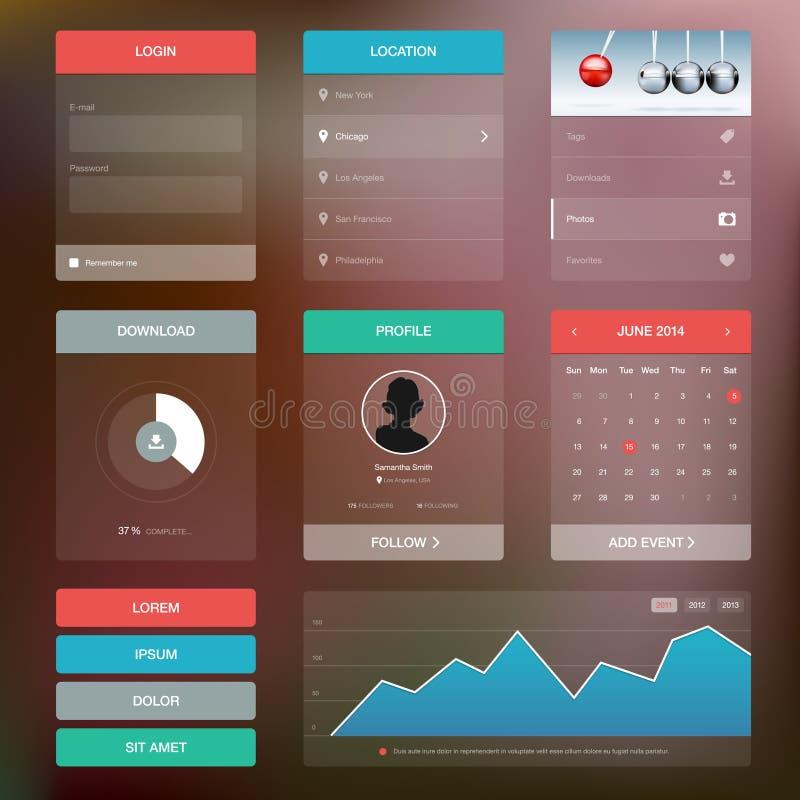Benutzerschnittstellenkonzept des flachen Designs grafisches lizenzfreie abbildung