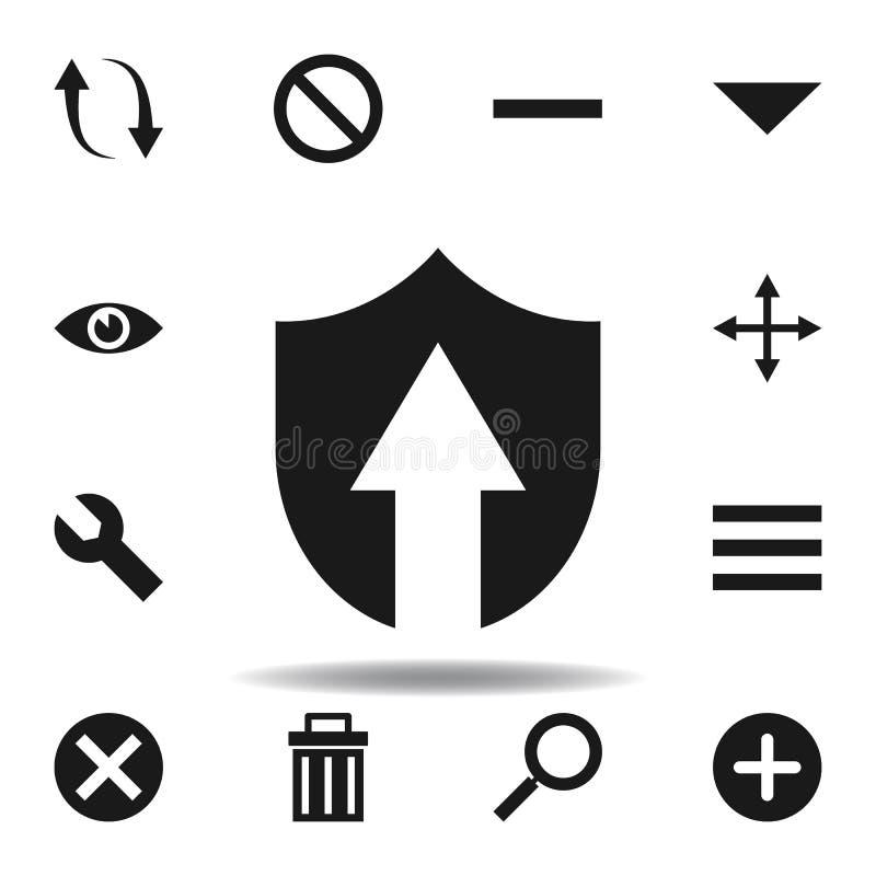 Benutzerverbesserungs-Gesch?ftsikone stellen Sie von den Netzillustrationsikonen ein Zeichen, Symbole können für Netz, Logo, mobi lizenzfreie abbildung