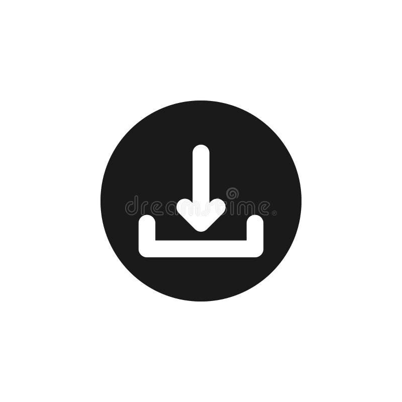 Benutzerwebsite-Downloadikone Zeichen und Symbole können für Netz, Logo, mobiler App, UI, UX verwendet werden lizenzfreie abbildung