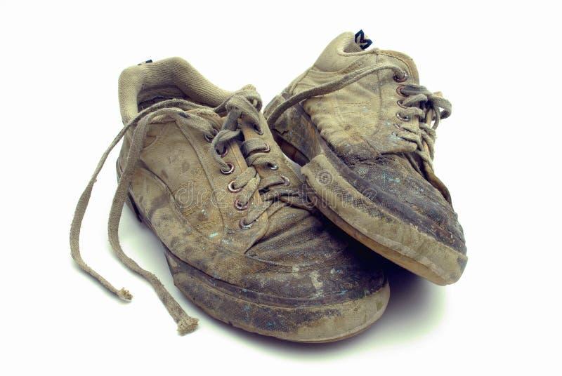 Benutzte Fußbekleidung lizenzfreies stockfoto