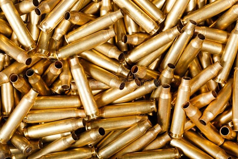 Benutzte 5,56 Millimeter-Kugeln stockfotos