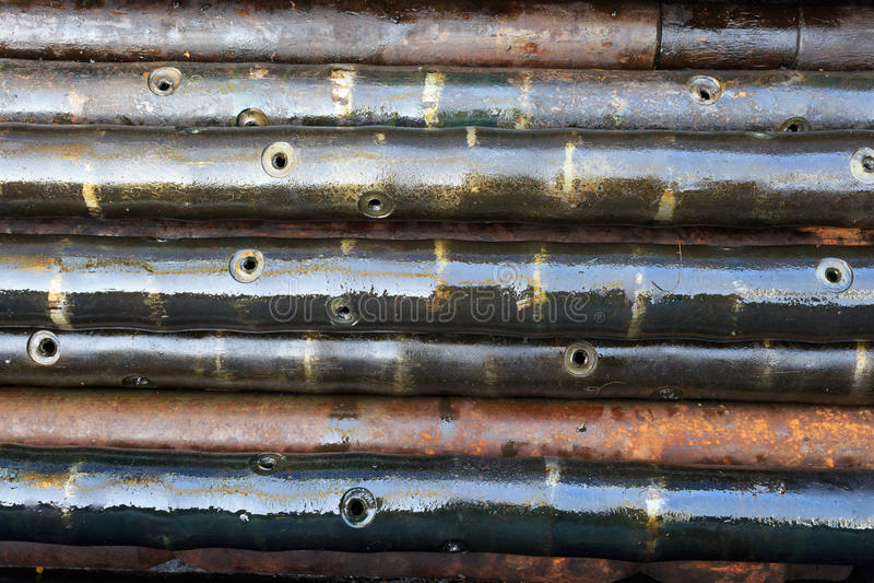 Benutzte Perforierungsgewehre für Öl und Gasexploration stockbild