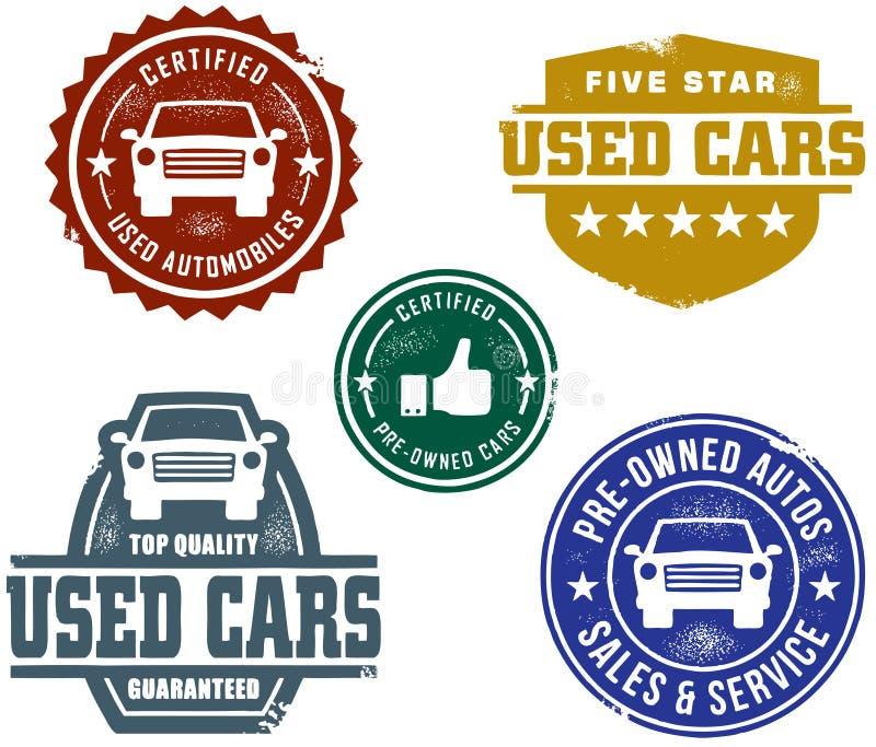 Benutztes Auto-Verkaufs-Stempel lizenzfreie abbildung