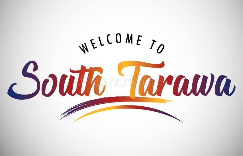 Benvenuti a South Tarawa illustrazione di stock