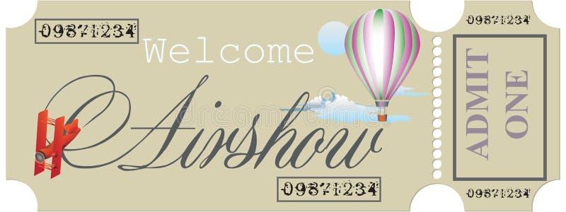 Benvenuto al Airshow royalty illustrazione gratis