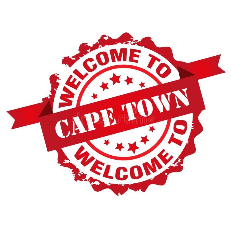 Benvenuto al bollo di Città del Capo illustrazione vettoriale