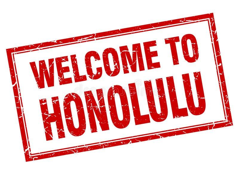 benvenuto al bollo di Honolulu royalty illustrazione gratis