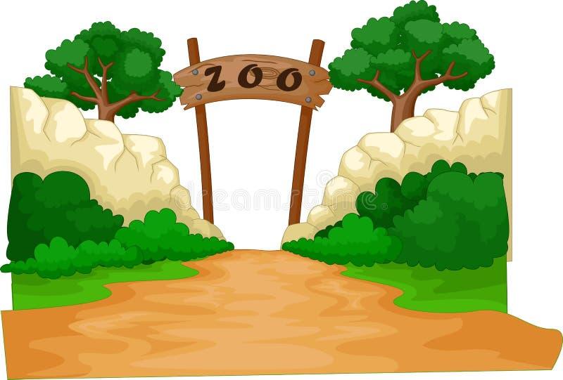 Benvenuto al fumetto dello zoo illustrazione vettoriale
