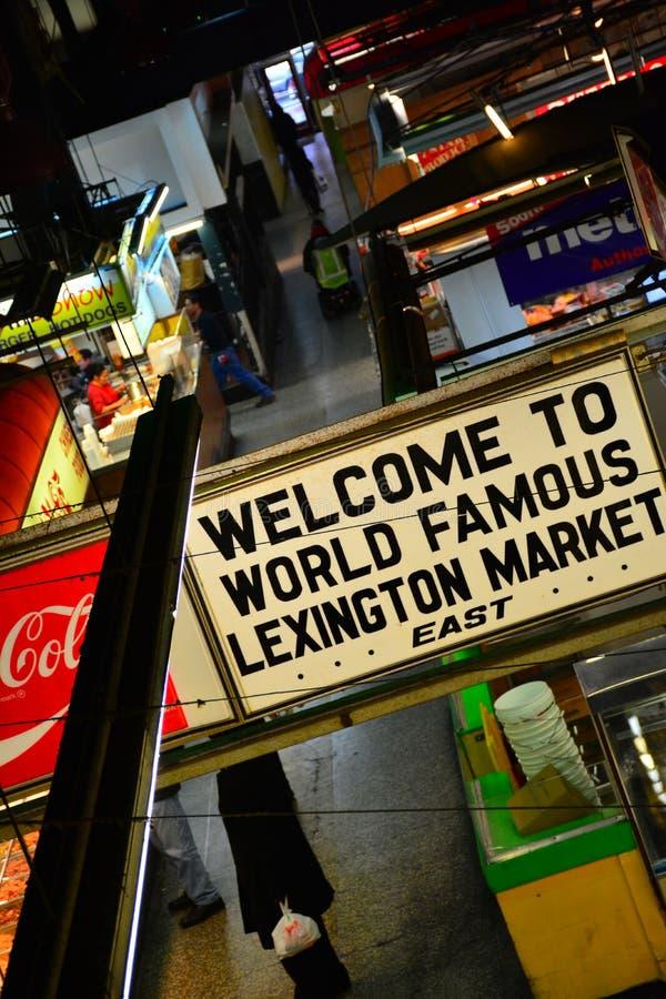 Benvenuto al mercato di Lexington. fotografia stock