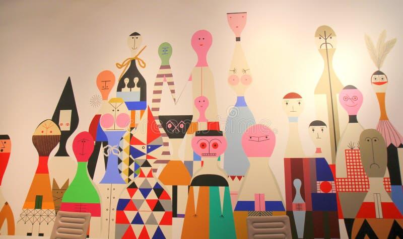 Benvenuto al museo di disegno di Vitra! illustrazione vettoriale