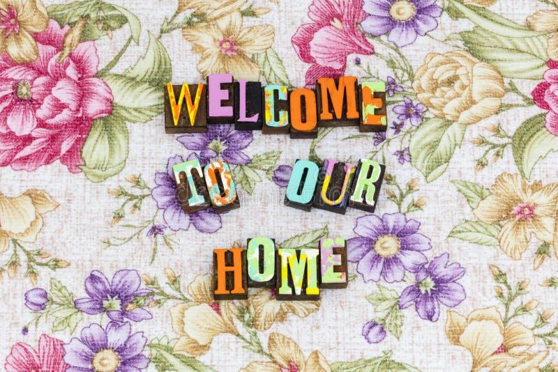 Benvenuto al nostro amico domestico fotografia stock