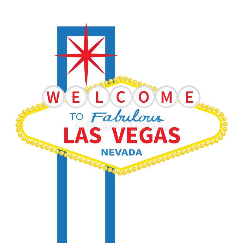 Benvenuto all'icona favolosa del segno di Las Vegas Retro classico illustrazione di stock