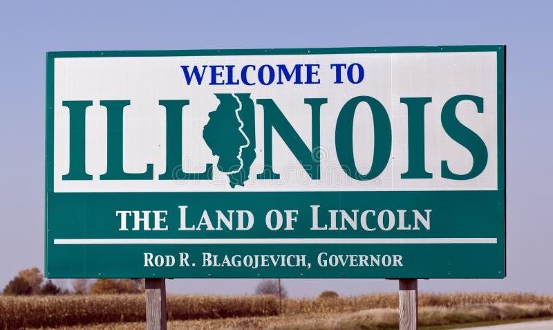 Benvenuto All Illinois Fotografia Stock Editoriale
