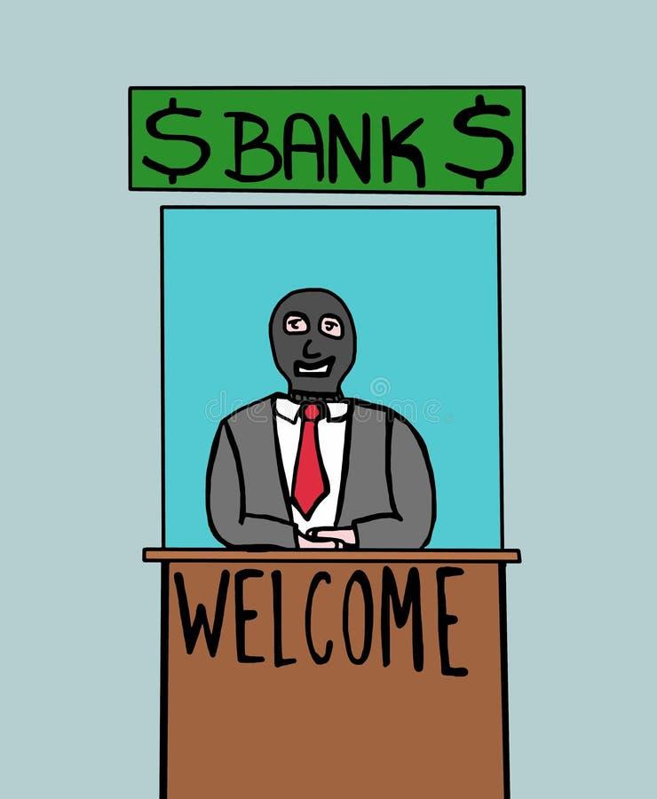 Benvenuto alla banca illustrazione di stock