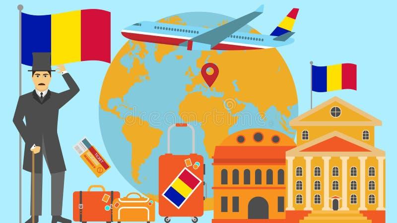 Benvenuto alla cartolina dell'Andorra Concetto di safari e di viaggio dell'illustrazione di vettore della mappa di mondo di Europ illustrazione vettoriale