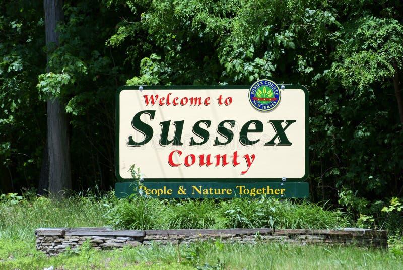 Benvenuto alla contea di Sussex, NJ immagini stock