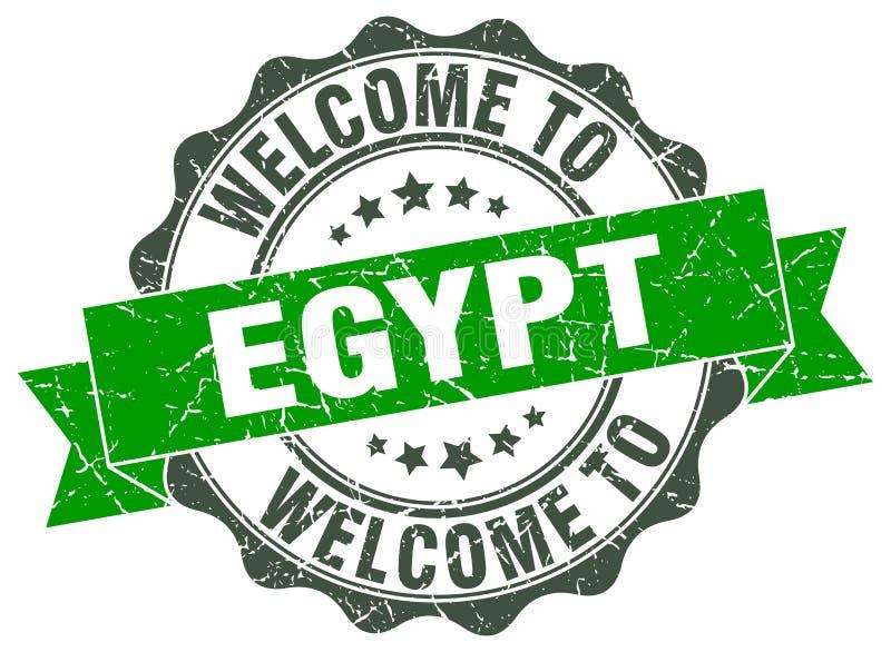 Benvenuto alla guarnizione dell'Egitto illustrazione vettoriale