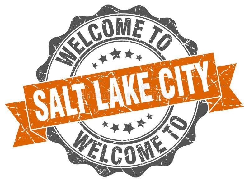 Benvenuto alla guarnizione di Salt Lake City illustrazione vettoriale