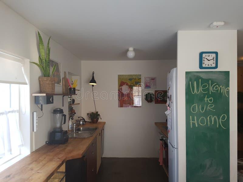 Benvenuto alla nostra casa fotografia stock