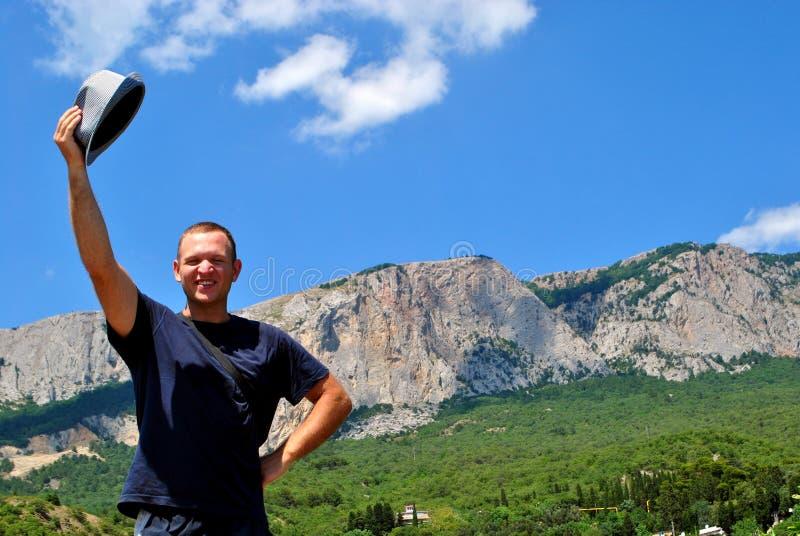 Benvenuto alle montagne fotografie stock