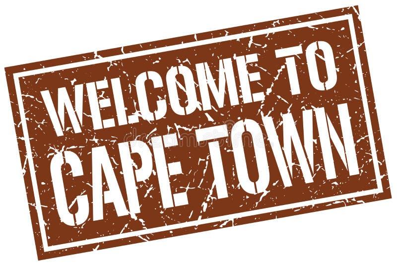 Benvenuto a Cape Town illustrazione vettoriale