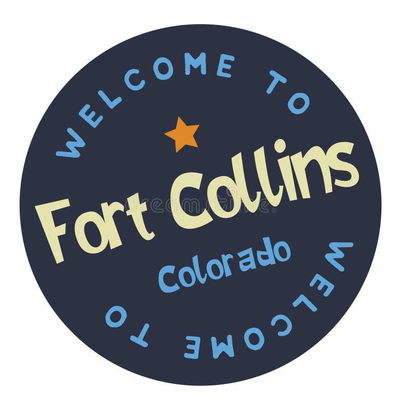 Benvenuto a Collins Colorado forte royalty illustrazione gratis