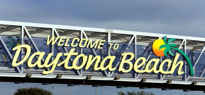 Benvenuto a Daytona Beach fotografia stock libera da diritti