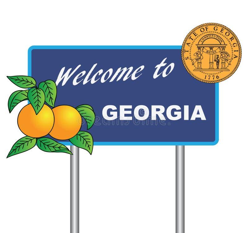 Benvenuto del segnale stradale a Georgia royalty illustrazione gratis