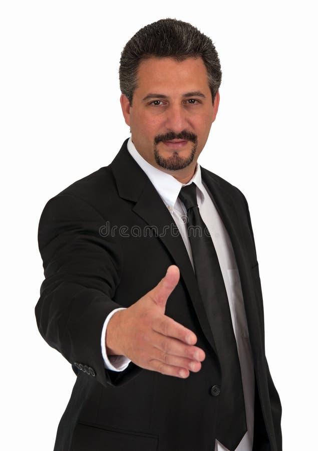 Benvenuto dell'uomo di affari ciao fotografia stock libera da diritti