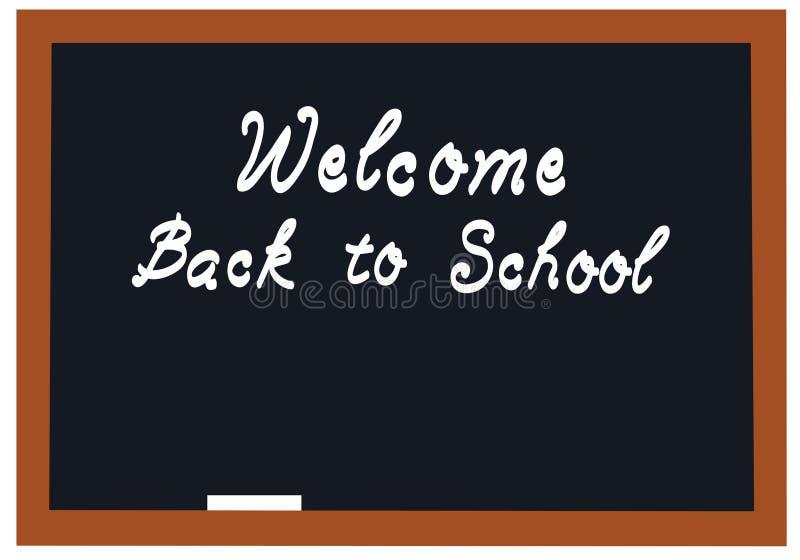 Benvenuto della lavagna della scuola di vettore di nuovo al fondo della scuola illustrazione vettoriale