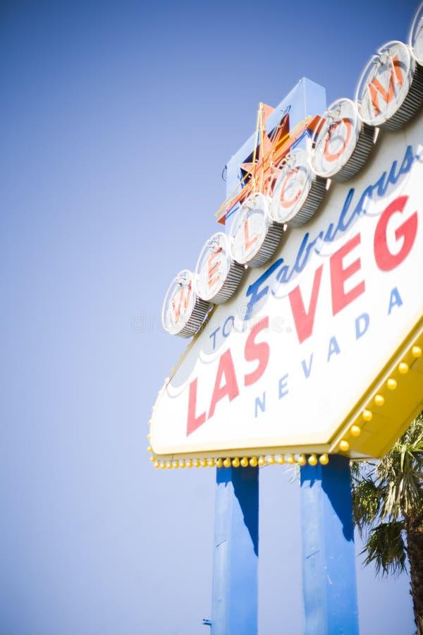 Benvenuto di Las Vegas fotografia stock libera da diritti