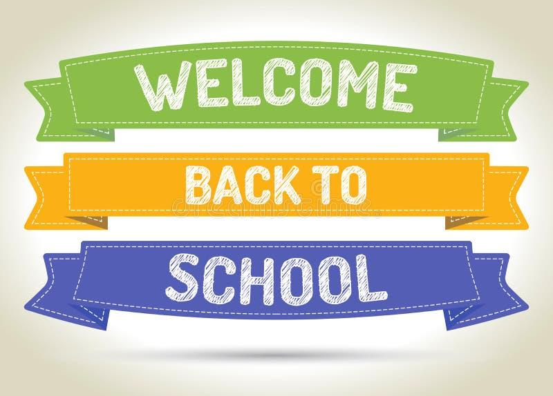 Benvenuto di nuovo alla scuola immagine stock