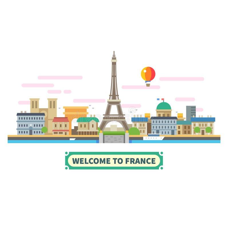 Benvenuto in Francia illustrazione di stock