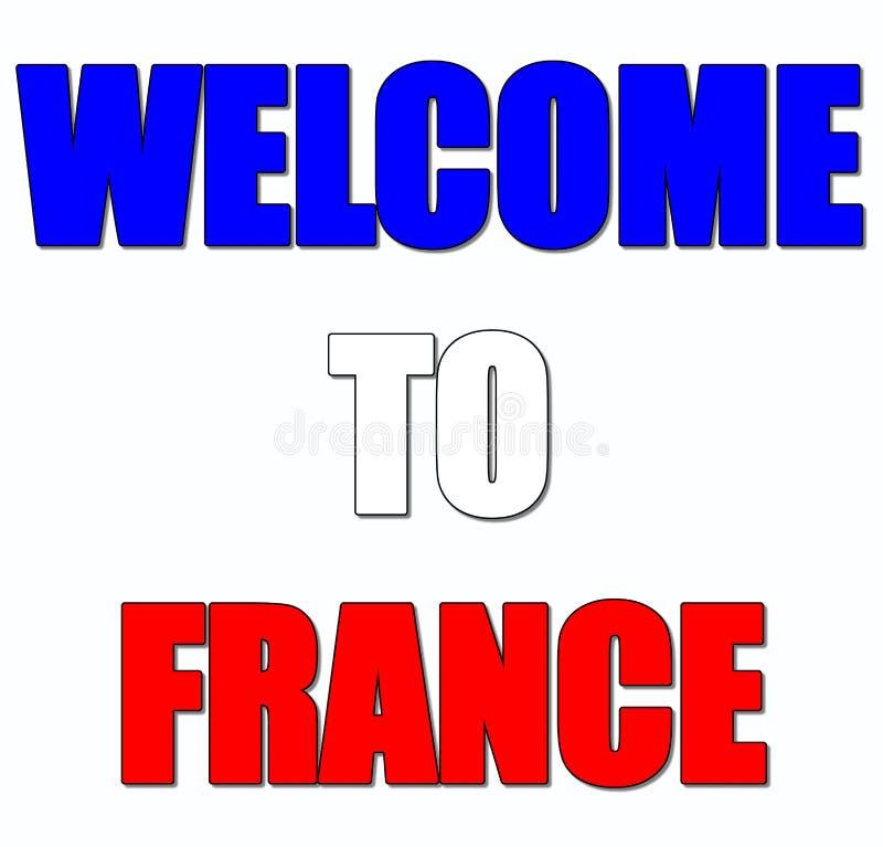 Benvenuto in Francia illustrazione vettoriale