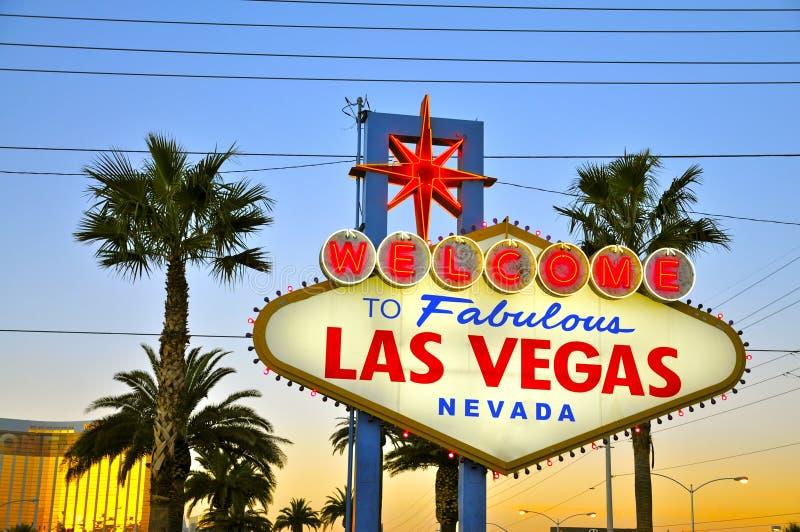 Benvenuto a Las Vegas favolosa fotografia stock
