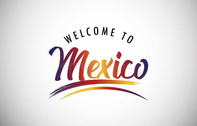 Benvenuto nel Messico illustrazione vettoriale