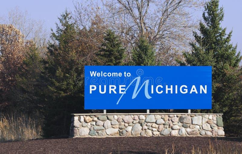 Benvenuto nel Michigan immagini stock