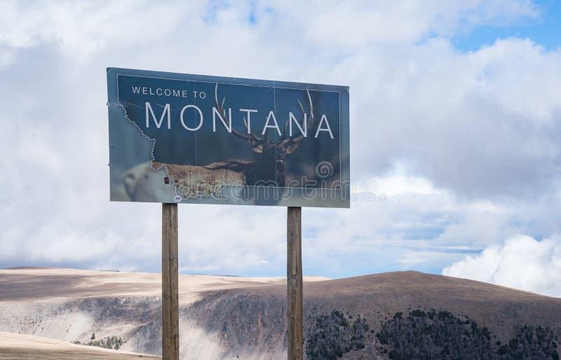 Benvenuto nel Montana fotografia stock