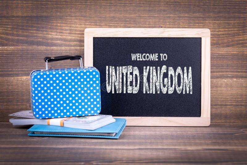 Benvenuto nel Regno Unito fotografia stock