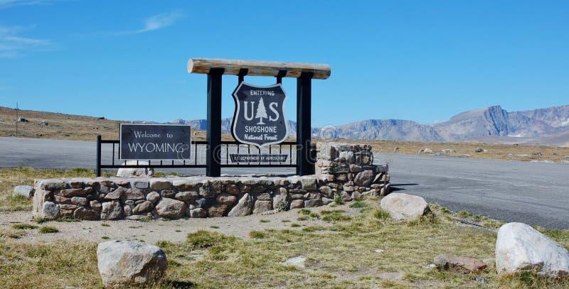 Benvenuto nel Wyoming immagine stock libera da diritti