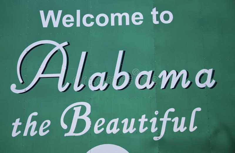 Benvenuto nell'Alabama immagini stock