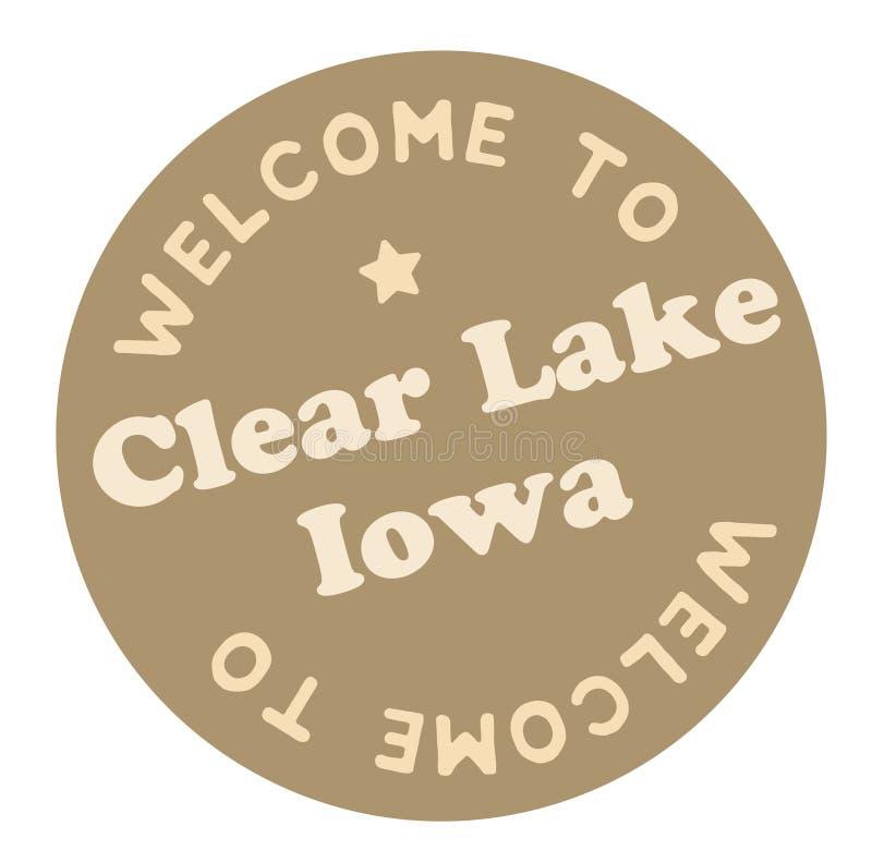 Benvenuto per rimuovere lago Iowa illustrazione vettoriale