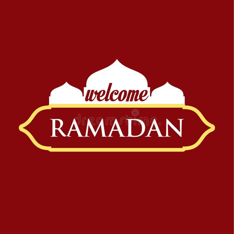Benvenuto Ramadan Vector Template Design Illustration illustrazione di stock