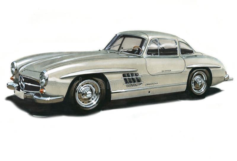 Benz 300SL Gullwing di Mercedes royalty illustrazione gratis