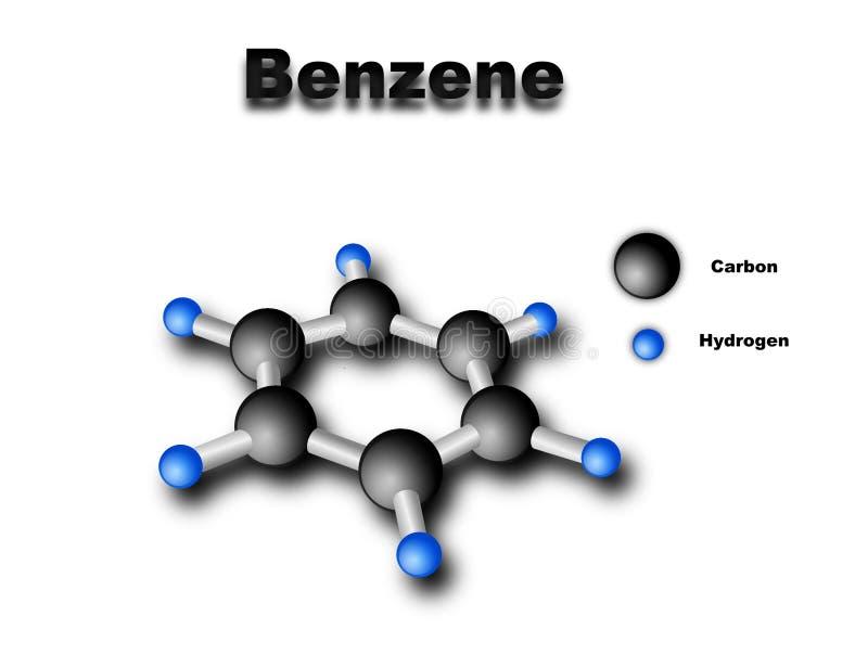 benzenowa molekuła ilustracji