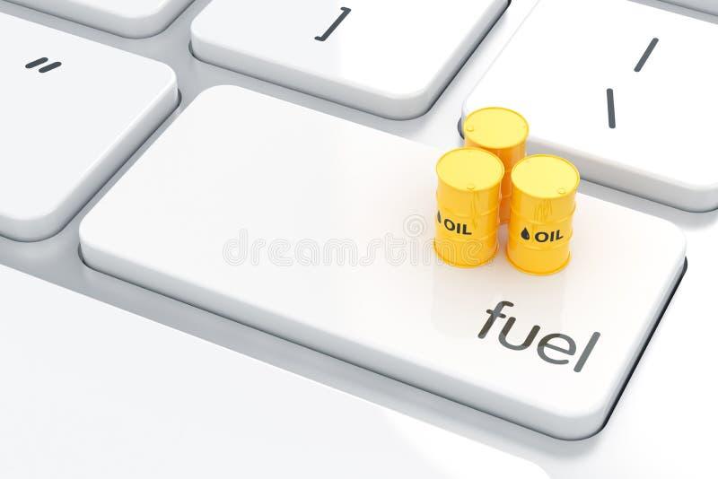 Benzin energyl Konzept stock abbildung