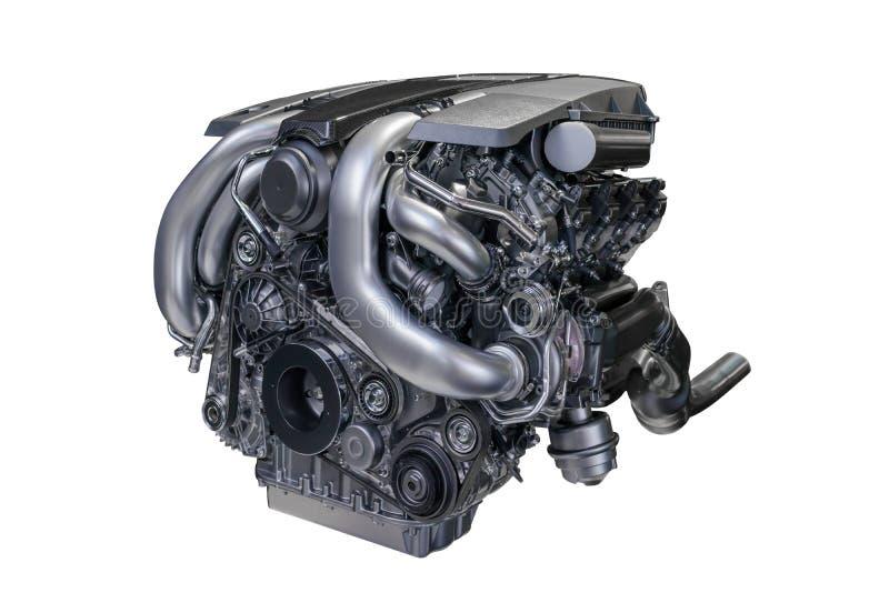 Benzin getankter Kraftfahrzeugmotor stockbilder